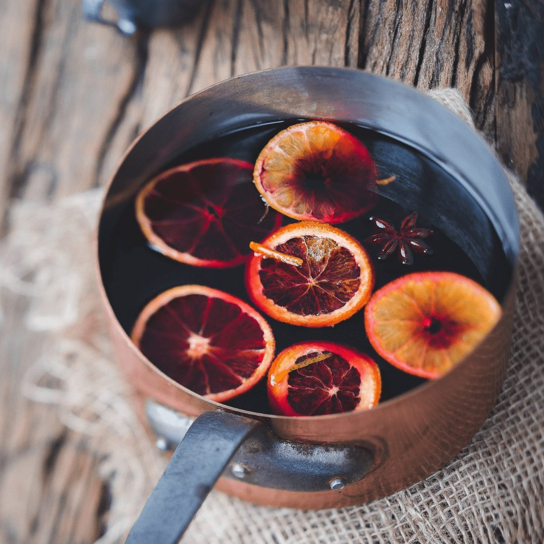 Use citrus for holiday drinks like mulled wine